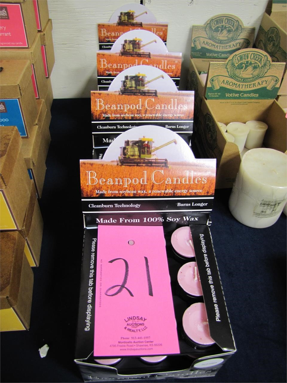 Approx 4 cases (new) Beanpod Candles: