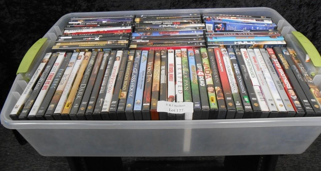 Box of 60+ DVDs