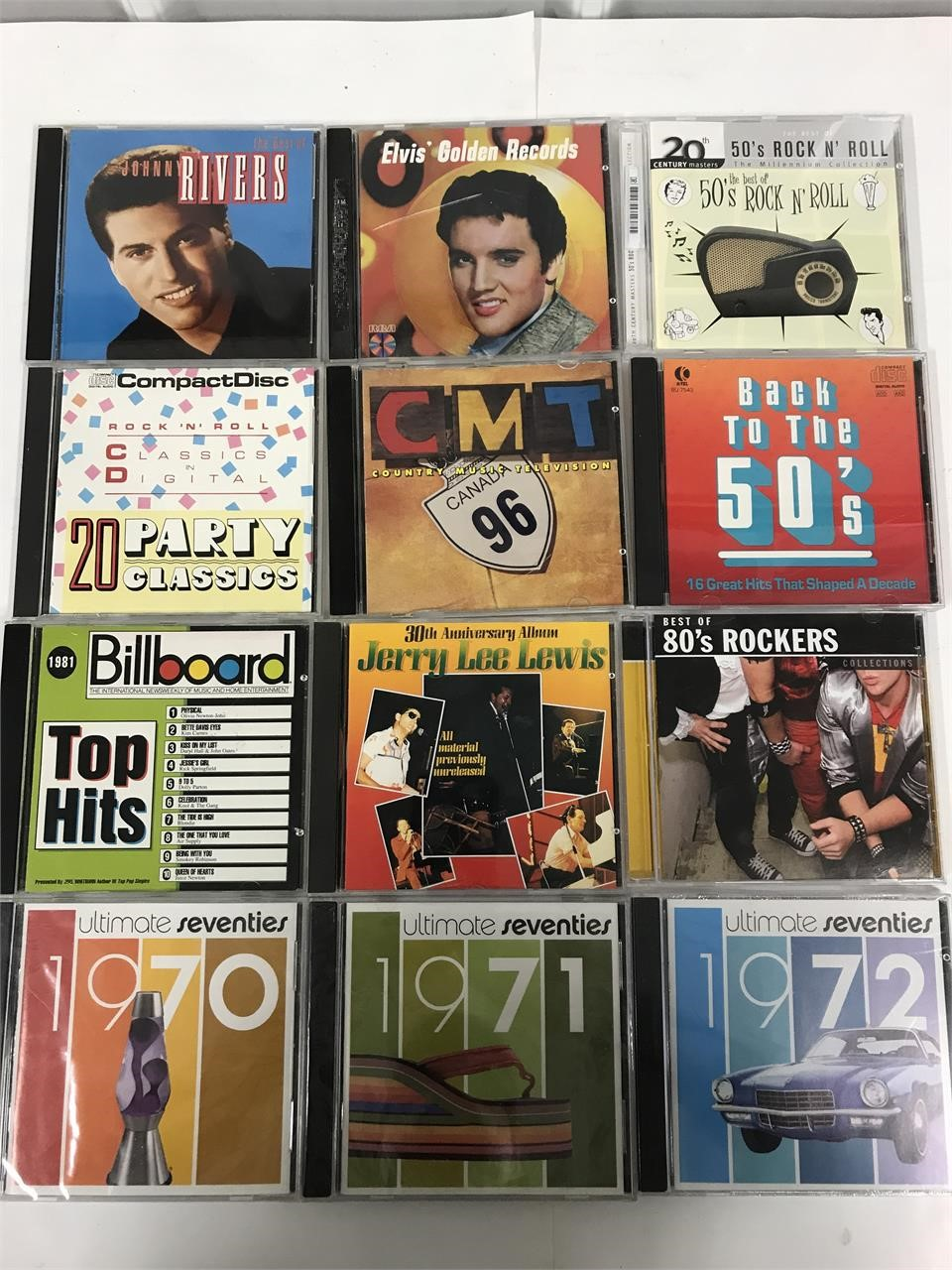 12 cds. 50s  60s and 70s tunes