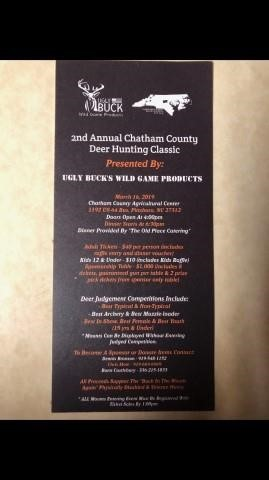 2nd Annual Chatham County Deer Hunting Classic