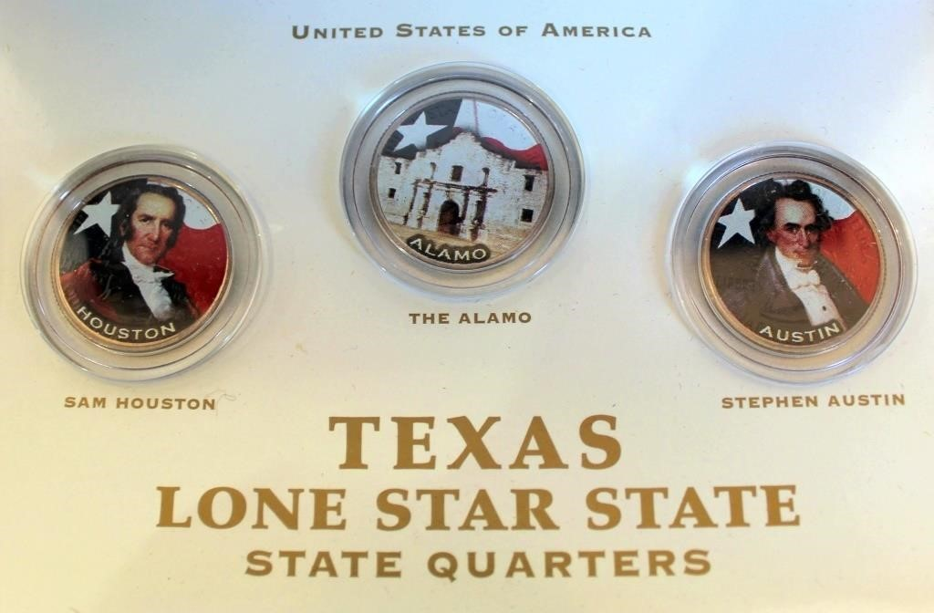 Set of 3 Texas Lone Star State Quaters