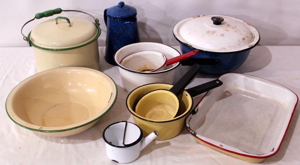 Misc Pcs of Enamelware