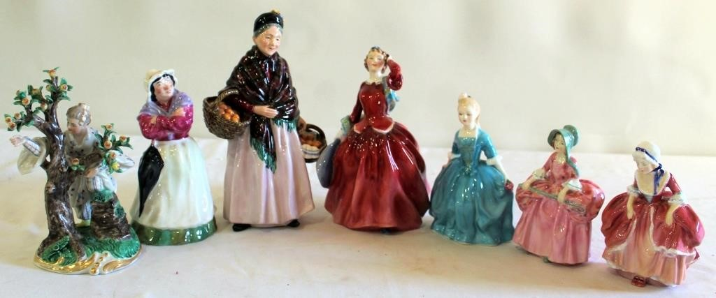 Misc Ceramic Figurines (ladies)