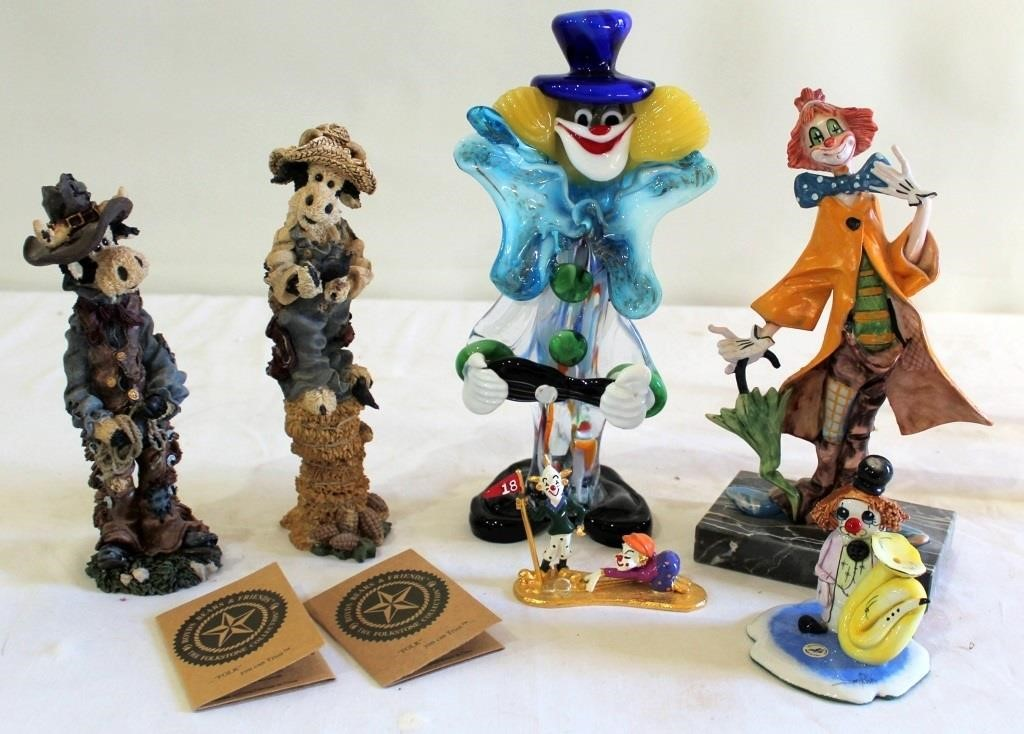 Misc Cow & Clown Figurines