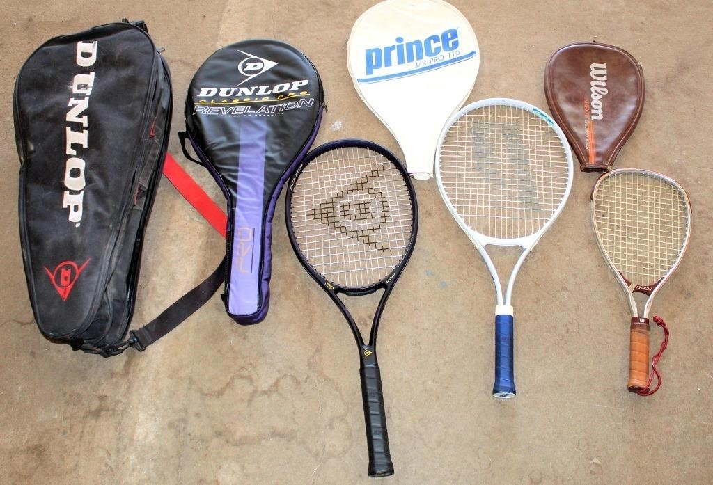 Tennis Rackets & Carring Bag