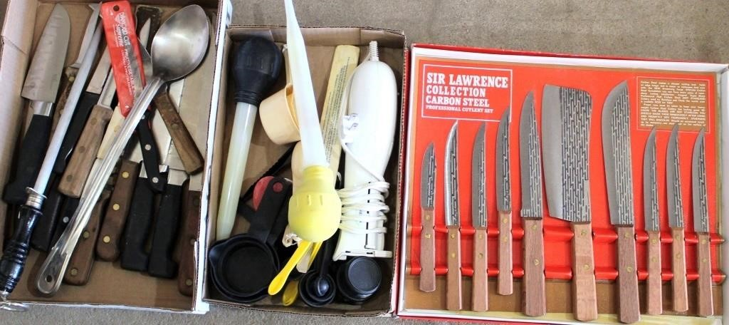 Misc Kitchen Utensils, New Knife Set