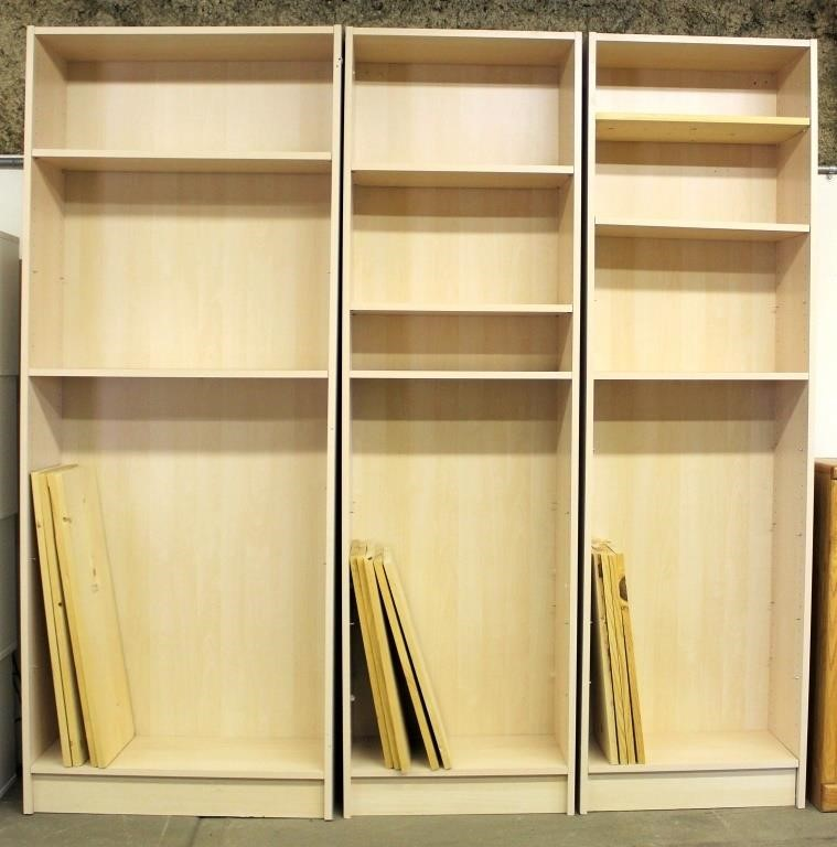 3- Tall Book Shelves