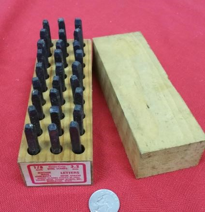 """Gruv-Grip steel letters stamps, 1/8""""."""