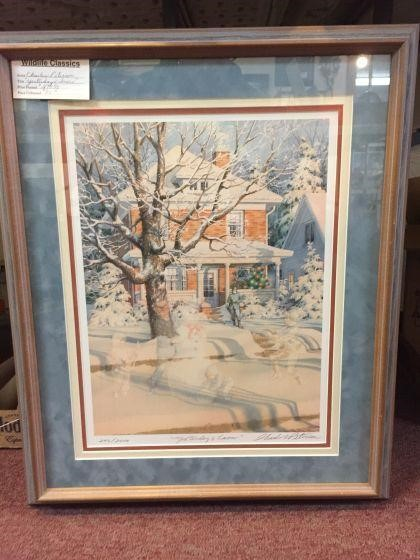 Yesterday's snow -framed, signed & numbered