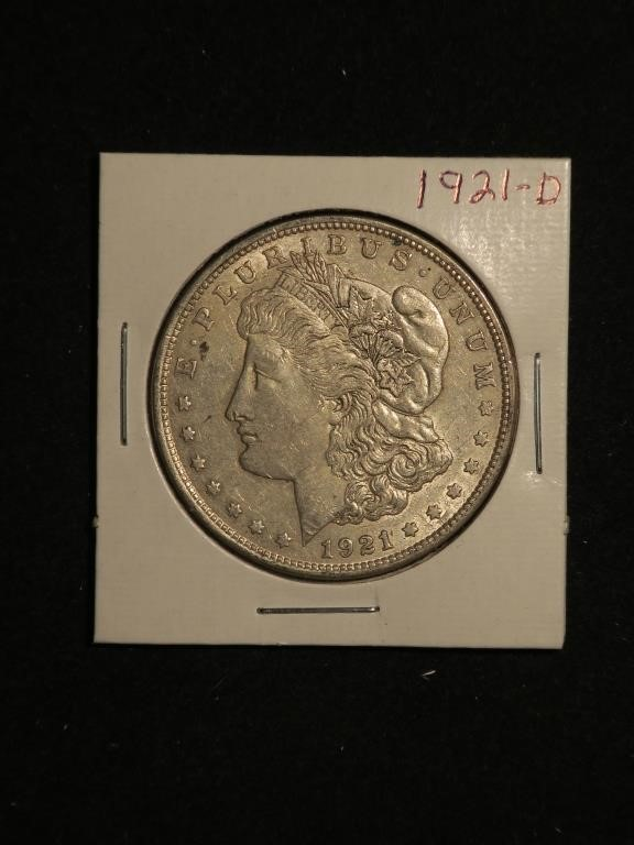 1921-D Morgan Silver Dollar - Denver Mint
