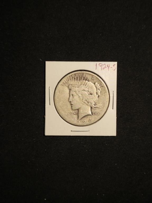 1924-S Peace Silver Dollar - San Francisco Mint