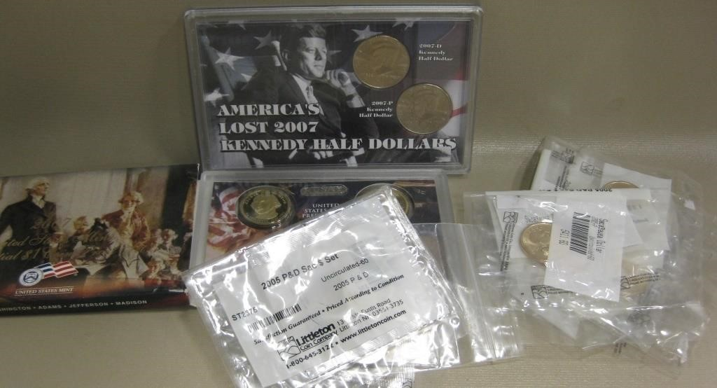 Bag Of Assorted Coins & Sacagawea Dollars