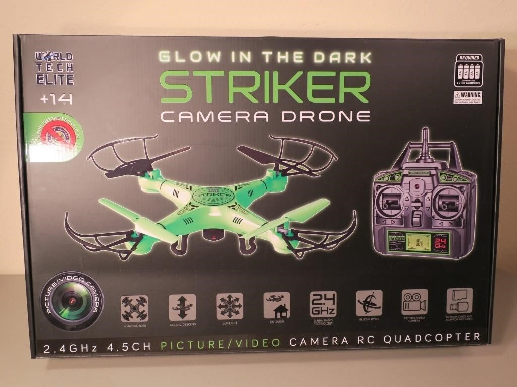 NIB Glow in the Dark RC Striker Camera Drone