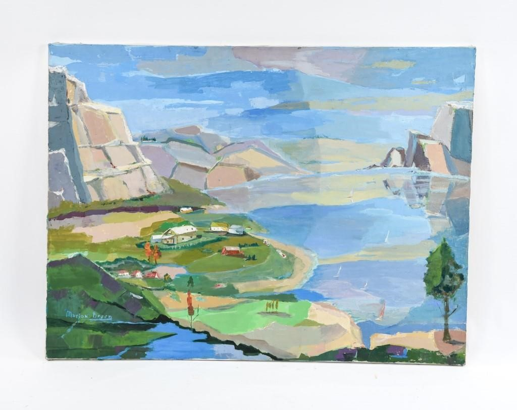 MARION GREEN O/C LANDSCAPE PAINTING