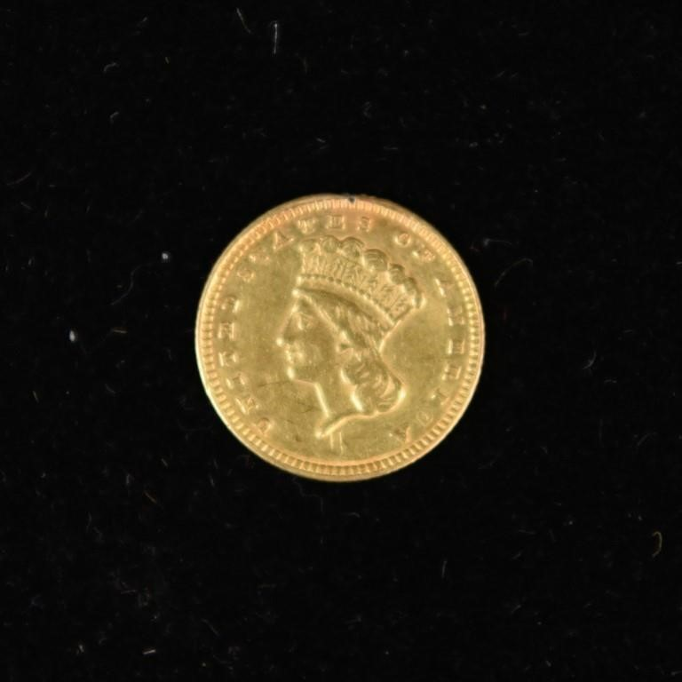 1874 US ONE DOLLAR GOLD COIN