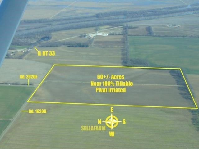 Lawrence Co., IL 60+/- Ac., Near 100% Till., Pivot Irrigated