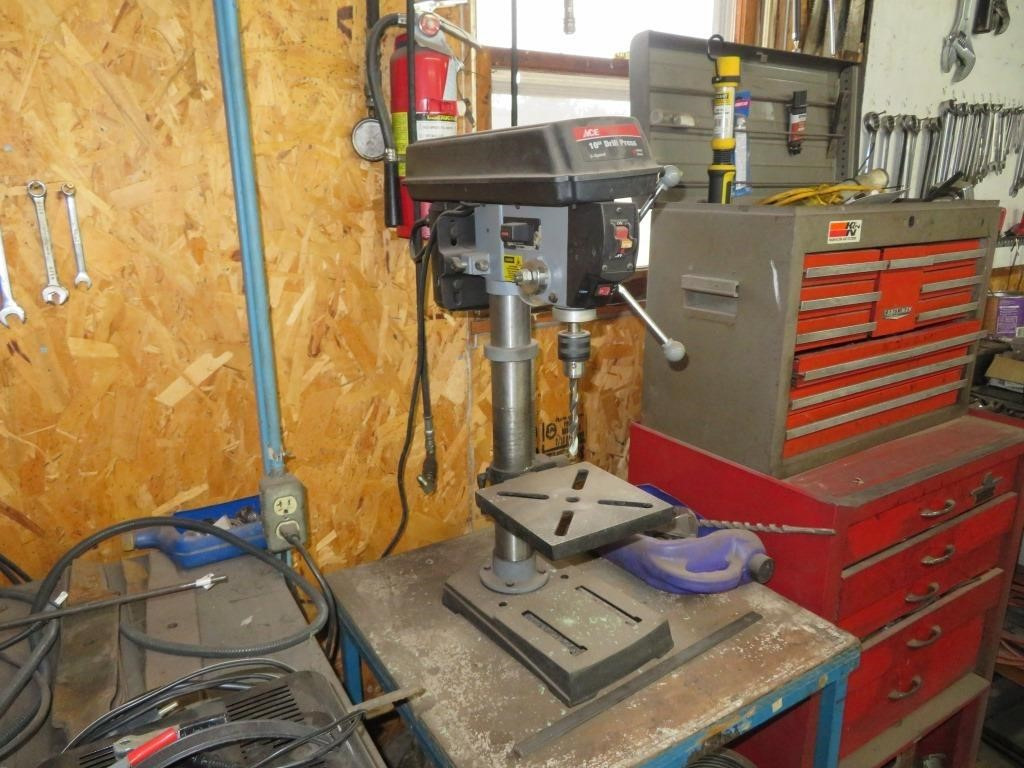 Ace Drill Press and Bench