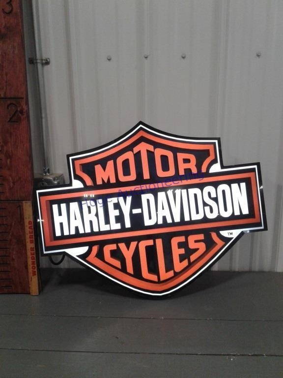 Harley-Davidson light -works Approx 27 x 21 inches