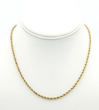14k Gold Rope Chain, 8.5g