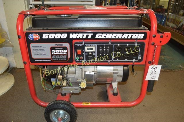 ALL POWER 6000 WATT GENERATOR