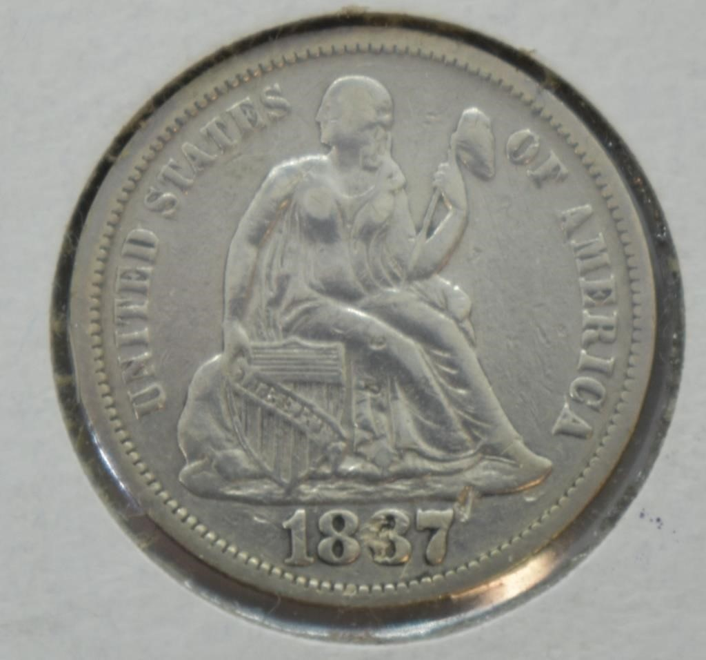 1837 SEATED DIME
