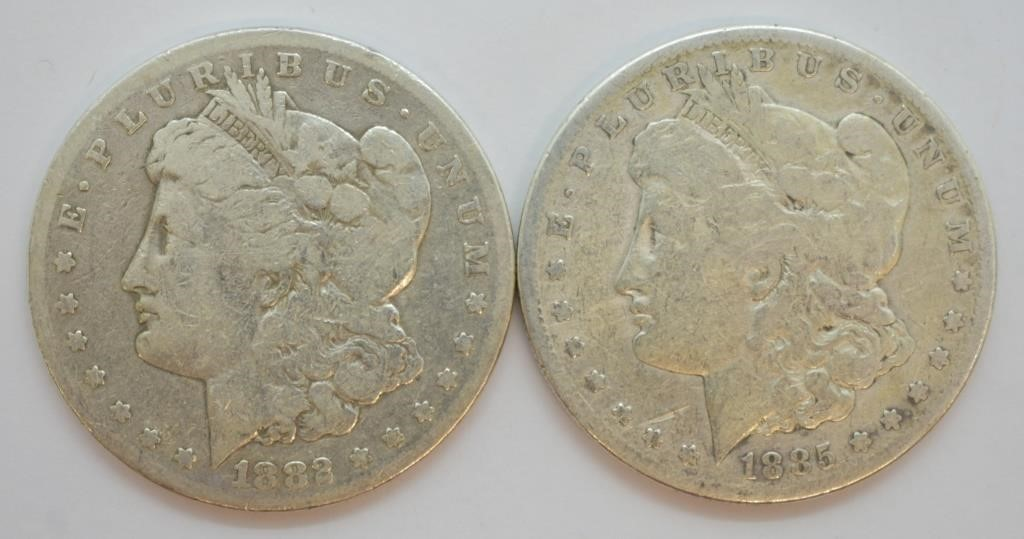 TWO PRE 21 SILVER DOLLARS