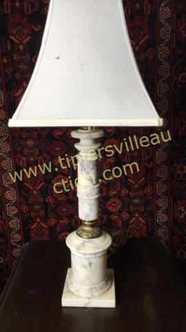Heavy marble lamp 28in
