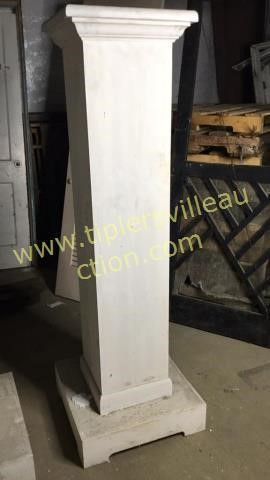One 65in tall solid wood column
