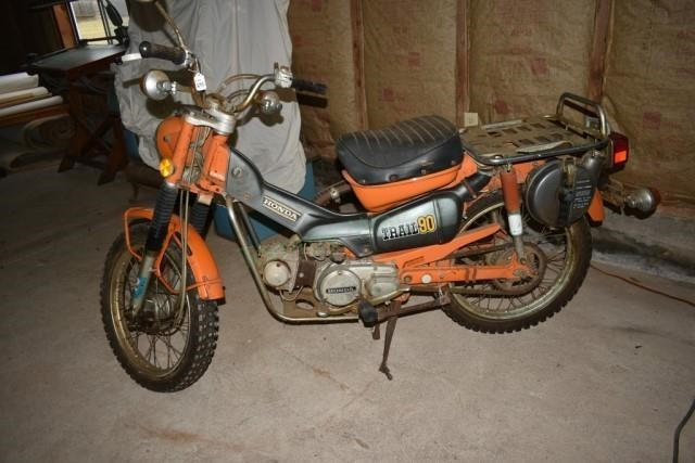 Honda, Trail 90, 3007 miles. Is 1974, Papers