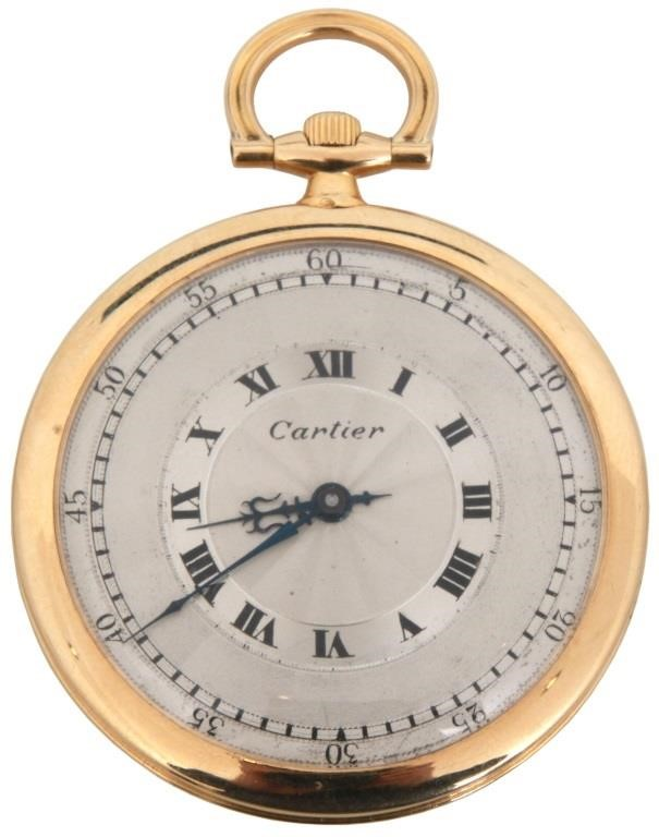 18K Cartier Ultra Thin Pocket Watch