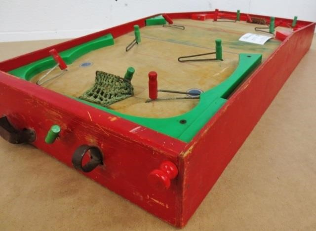 Vintage Canadian Made Wooden Hockey Game