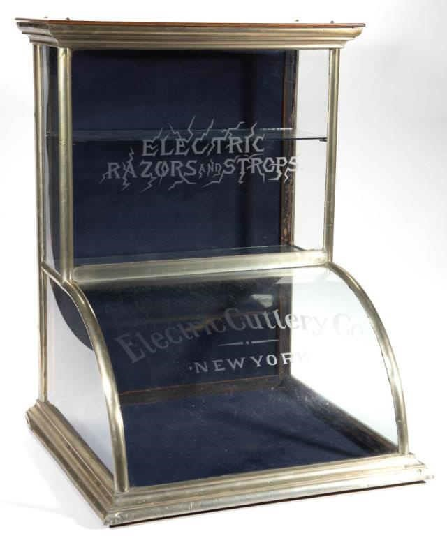 Fine Electric Razors counter-top display case
