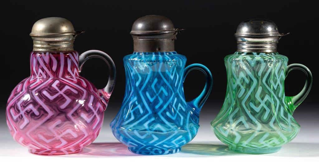 Rare syrup pitchers from the collection of Don Evans, Mount Juliet, TN.