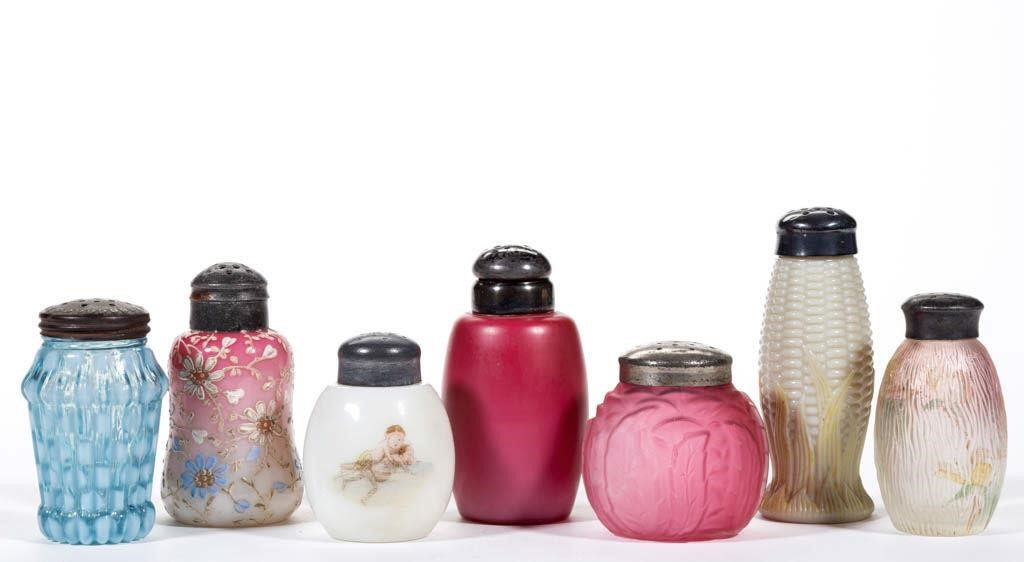 Selection of salt and pepper shakers.