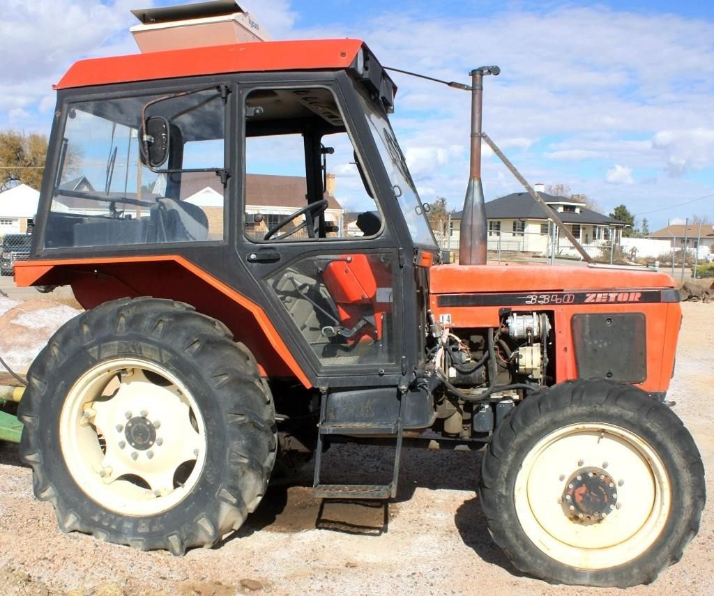 Zetor 3340 Tractor, diesel eng, cab, 3-pt, pto, 1-pr of remotes, 2227 hrs (1993 to 2000 specific year unknown) (view 1)