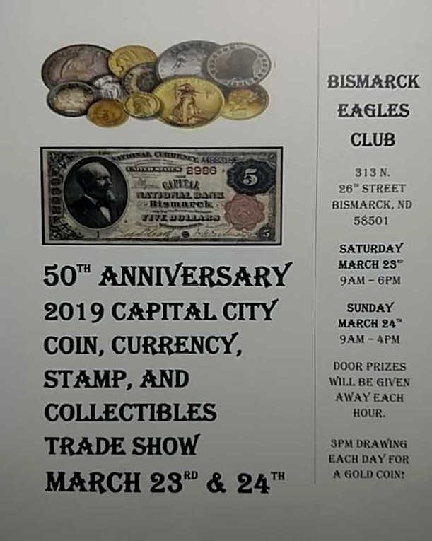 Bismarck Coin Show Online-only Auction