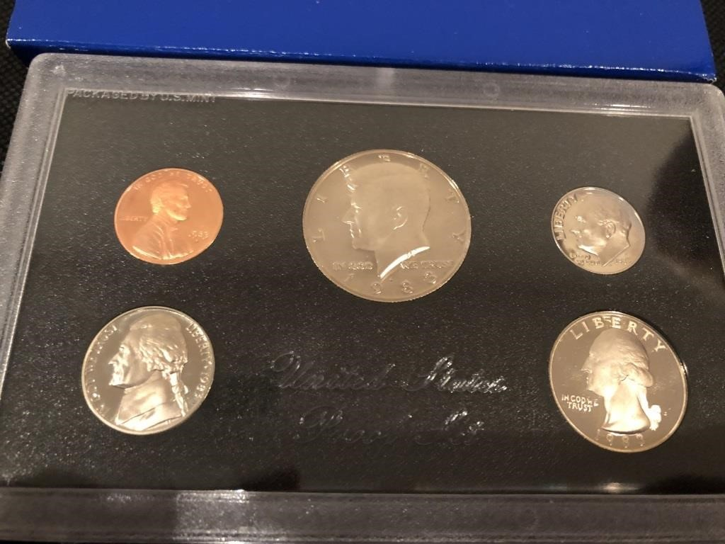 SAN FRANCISCO MINT SILVER PROOF SETS  COIN  CURRENCY STAMPS