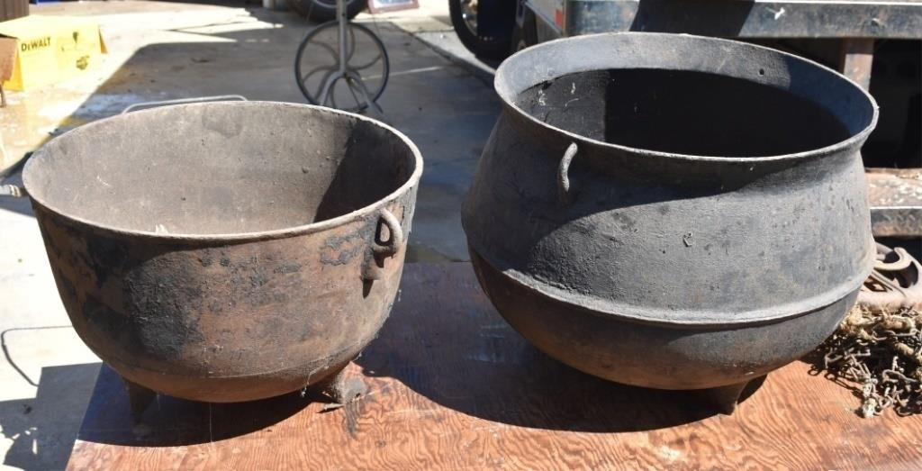 Old Castiron Wash Pots