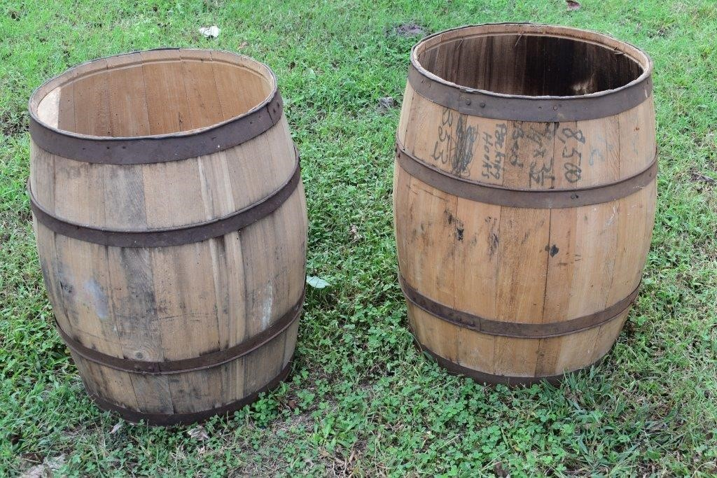 Large Wooden Barrels