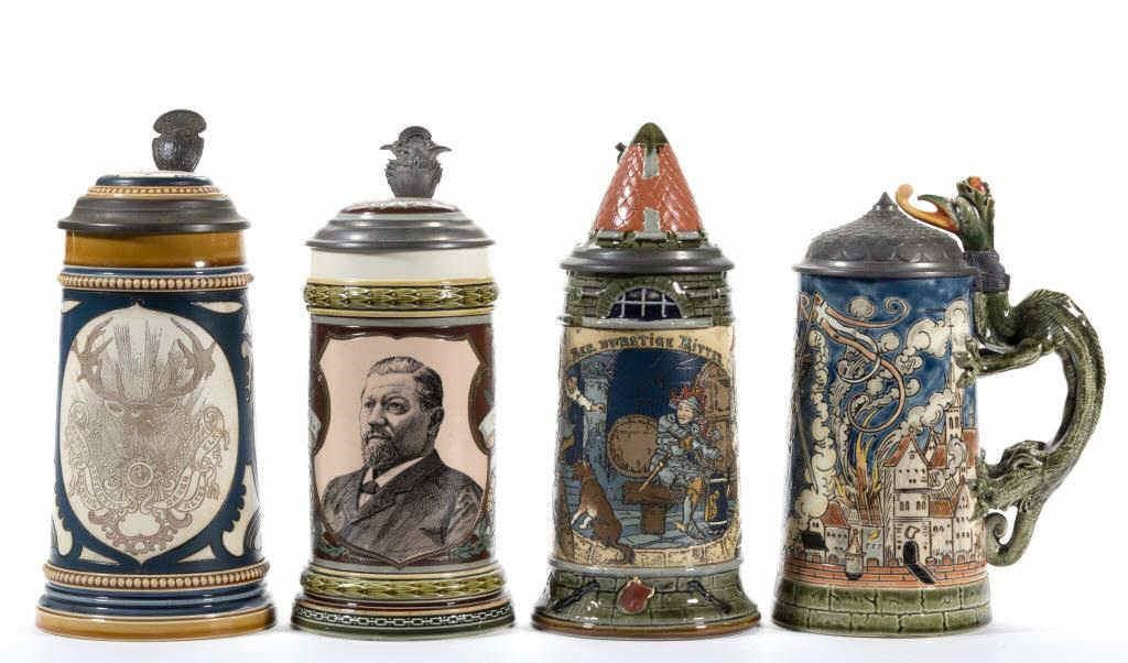 Fine selection of Mettlach steins from a private collection