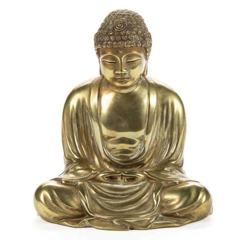 Gilt bronze buddha, from a good selection of Asian material