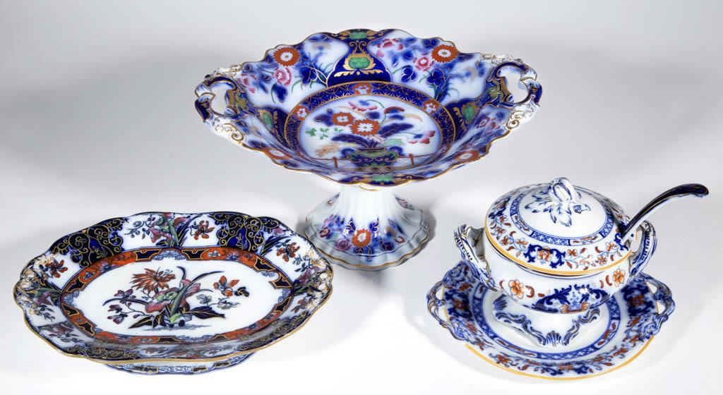 Large selection (over 600 pieces) of Staffordshire Transferware