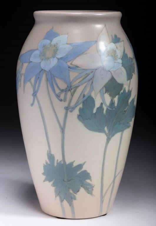 Rookwood vase, one of several examples