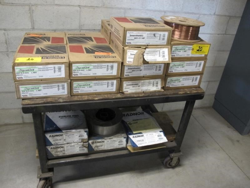 Approx (25) Boxex Assorted Welding Wire Including: