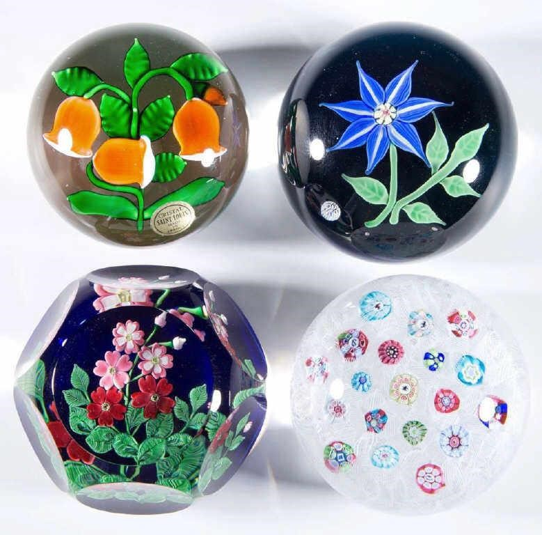 From a large selection of paperweights, both antique and from the studio movement.