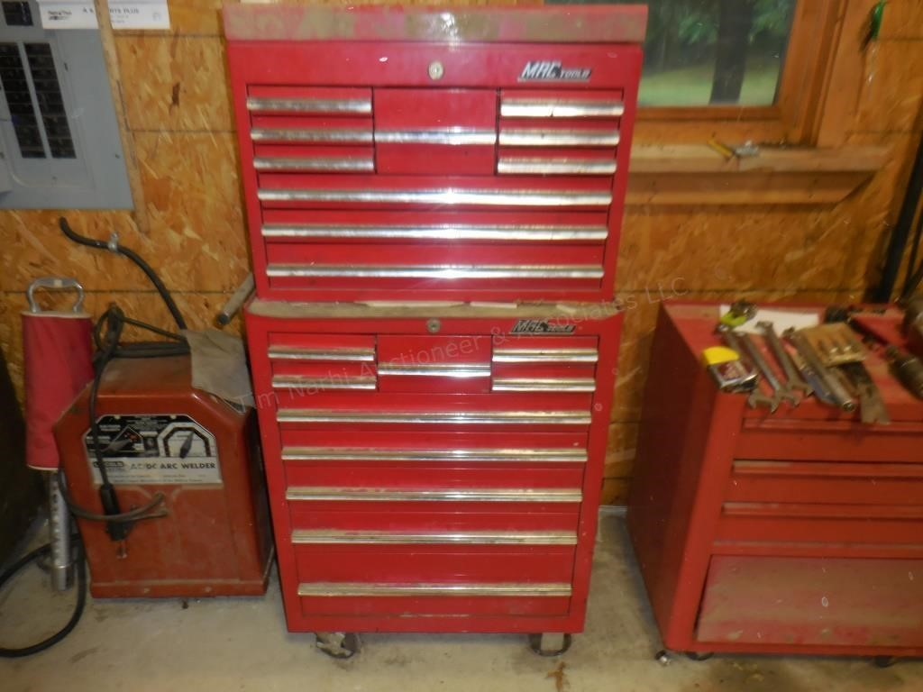 One of 3 Rolling Toolboxes