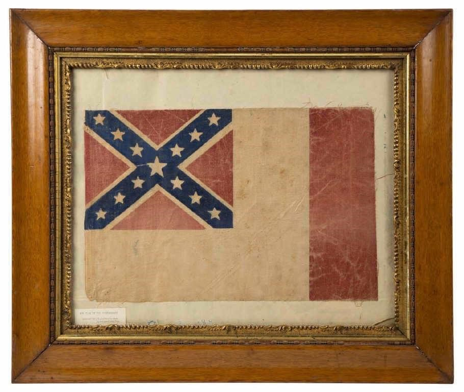 United Confederate Veterans / UCV reunion parade flag (c.1890), from the Heneberger Collection