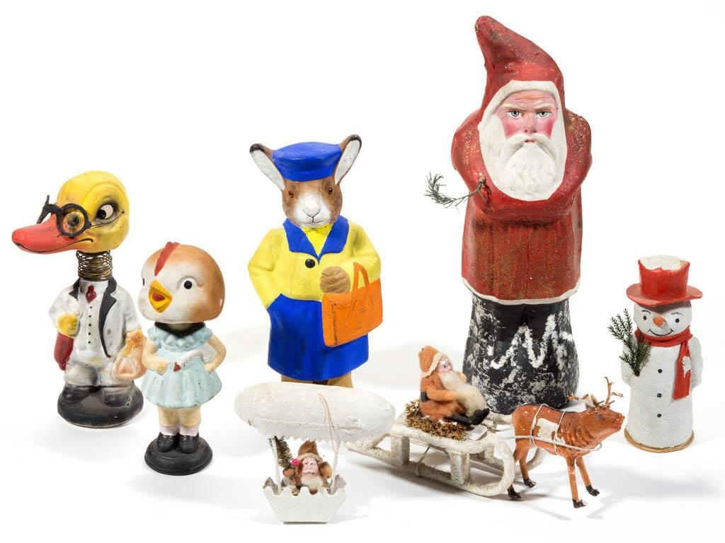 Good selection of antique/vintage Christmas and Easter items