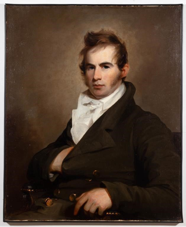 Fine portrait of Francis Cassatt Clopper by Thomas Sully, descended directly in the family