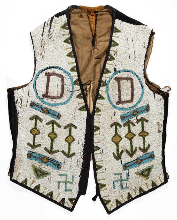 Native American beaded vest (late 19th/early 20th century)